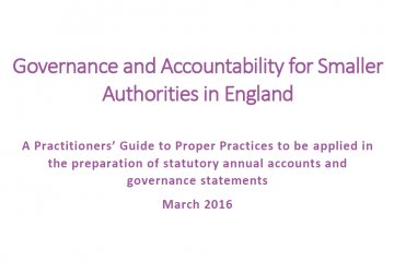 Governance and Accountability for Smaller Authorities in England - Practitioners Guide 2019