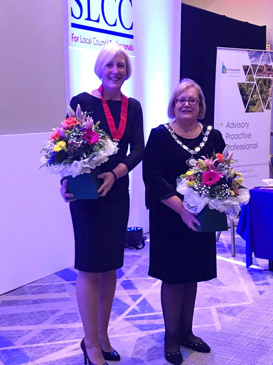 Linda Larter MBE FSLCC, the new SLCC President
