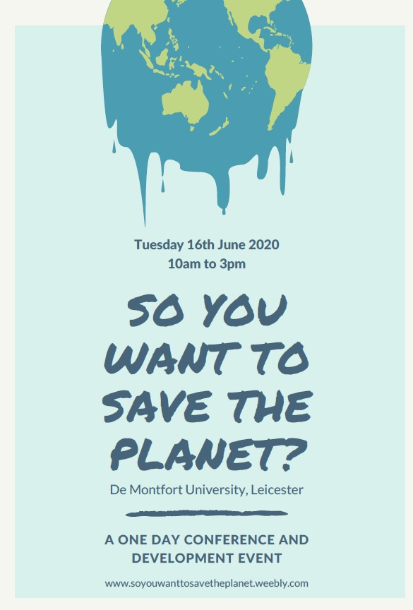 So You Want to Save the Planet?